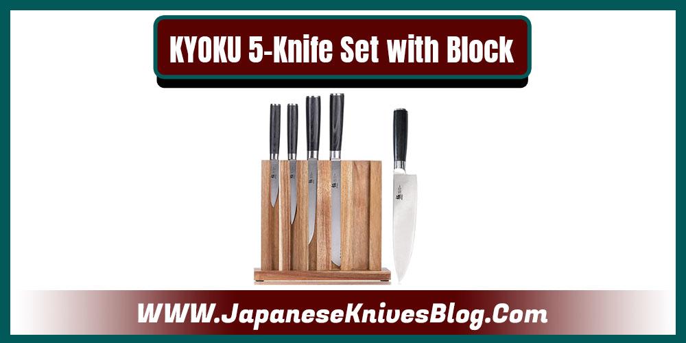 KYOKU 5-Knife Set with Block